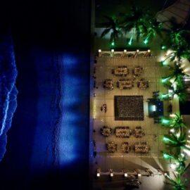 Amazing View at night Beach wedding at vallarta